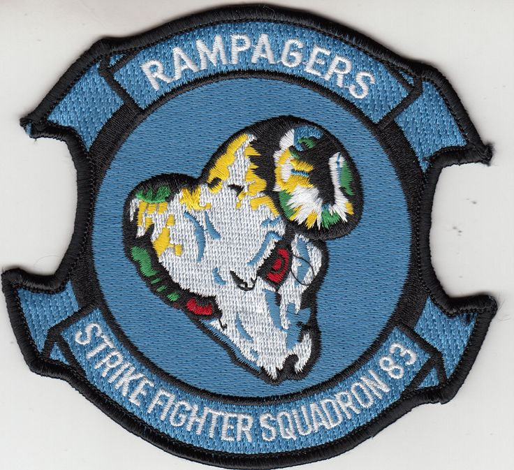 VFA-83 RAMPAGERS COMMAND CHEST PATCH
