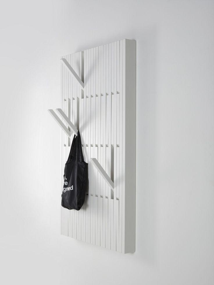 Appendiabiti a parete in faggio PIANO WHITE by PER/USE design Patrick Seha