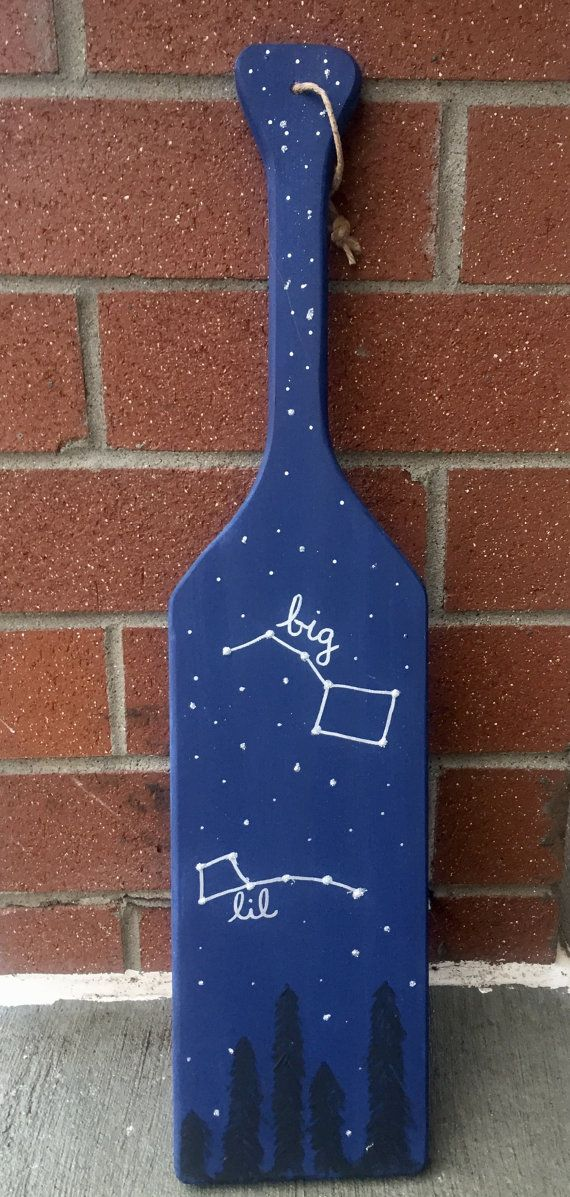 Sorority Big Little Dipper Hand Painted Paddle by KwastandCo