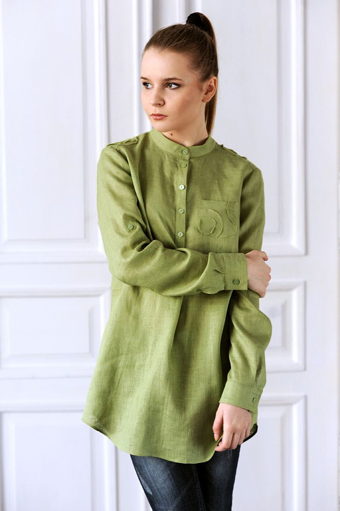 #lookbook #2014 #new #shirt #linen #green #handmade #clothing #KOIRE koire.pl