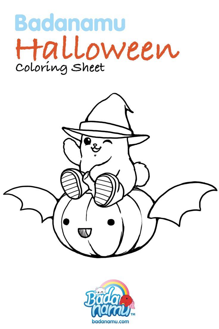 Badanamu Halloween Coloring Sheet! Get your crayons ready