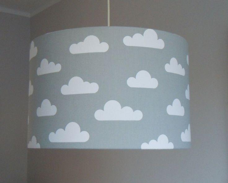 lampenschirm wolken grau - Babyzimmer Graustreifen