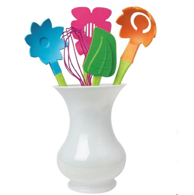 So. So. So cute.Mothers Day, Gift Ideas, Kitchens Tables, Bloom Utensils, Utensils Sets, Kitchens Utensils, Cooking Utensils, Bridal Shower Gift, Stainless Steel