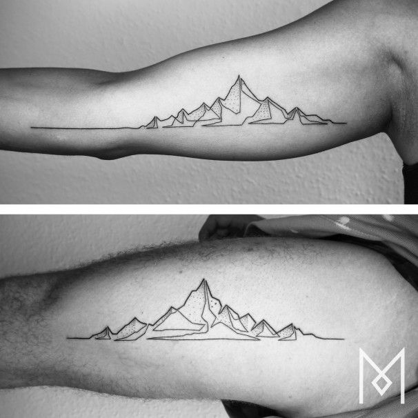 He ditched a lucrative corporate job to create these amazing one-line tattoos