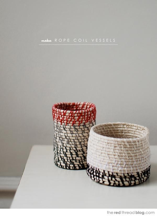 DIY Jewelry DIY Nautical Rope : DIY showing how to make rope coil vessels and bowls