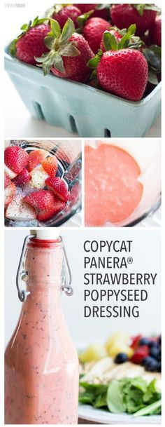 Copycat Panera® Strawberry Poppyseed Dressing (Vegan and Gluten free) - 16 Ways to Shake Up Your Salad with Homemade Dressing | GleamItUp