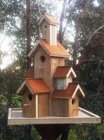 Rustic Mansion Rusty Manor Prices Dimensions Bird S The Word Bird House Bird House Kits Wooden Bird Houses