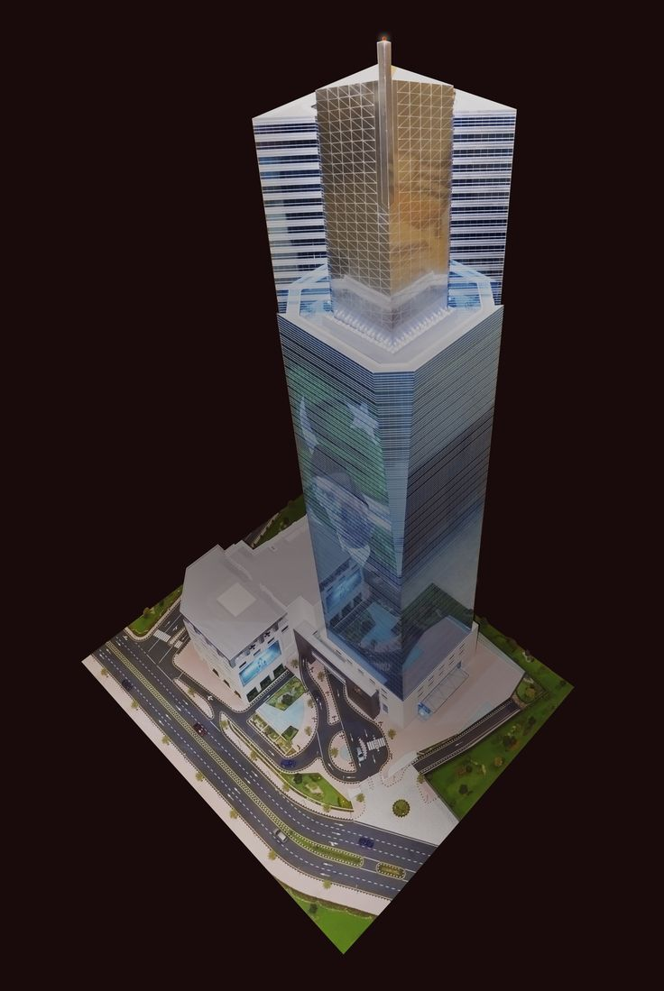 Icon Tower - Scale 1/100 Metric - Bahria Town - Karachi, Pakistan made by Real Model International  #Architecture&Design #Architecture&Engineering #ScaleModel #ModelMaker #RMI