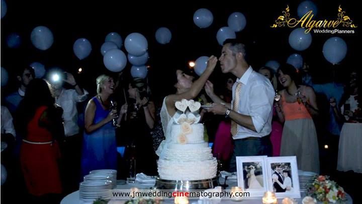 Balloons at cake cutting by Algarve Wedding Planners | My Portugal Wedding