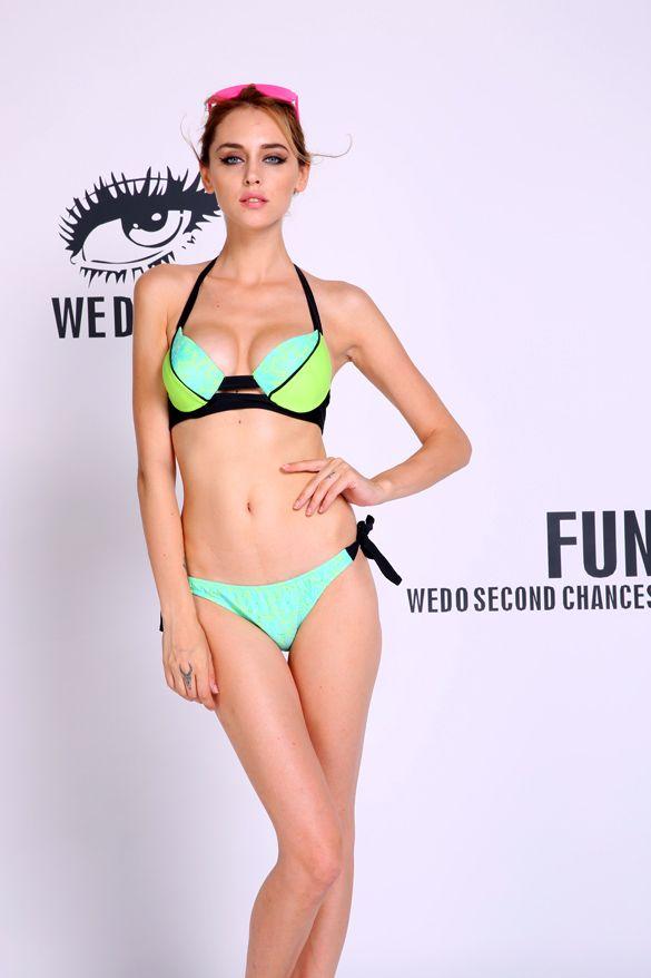 2017 Women's Bandage Bikini Set Push-up Padded Bra Swimsuit Bathing Suit Swimsuit S-L Free Shipping