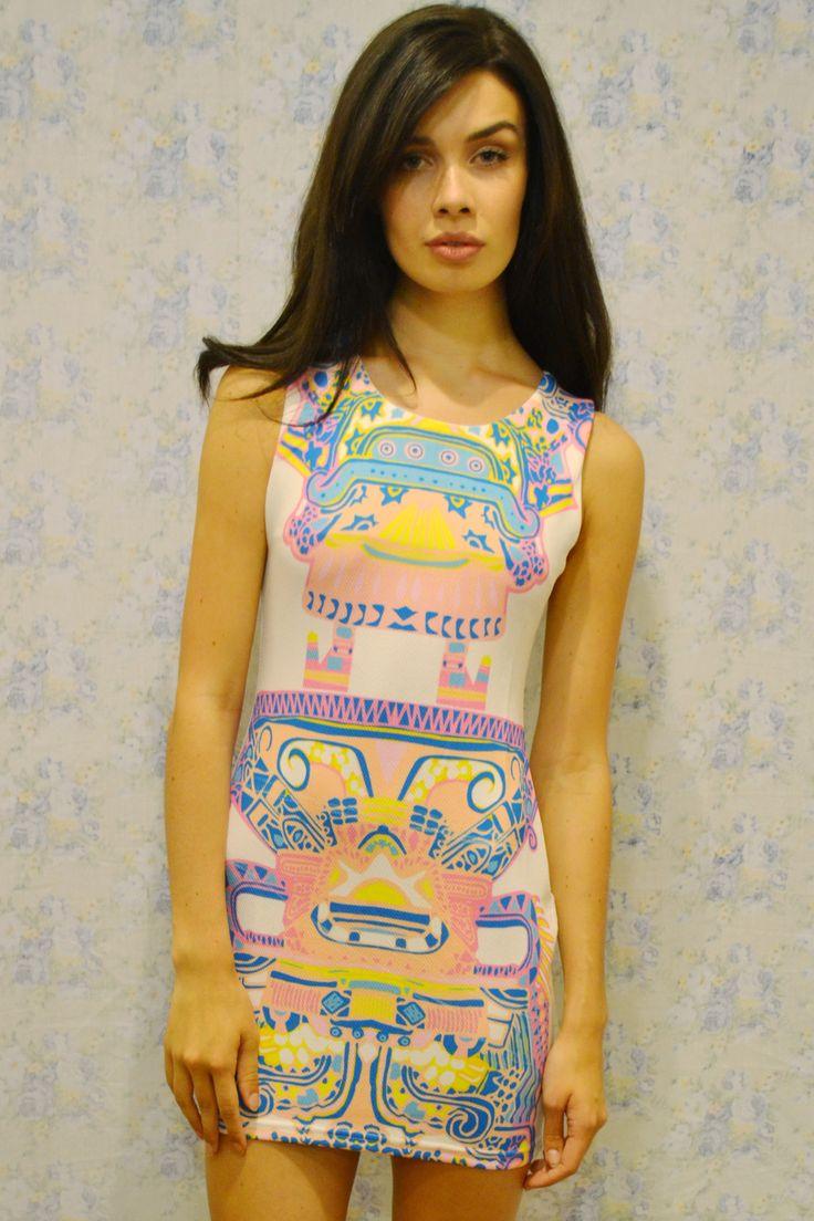 Joanie -Symmetrical Print Shift Dress £32