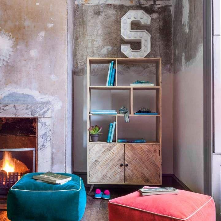 Amaliah Chevron Bookshelf #bookcase #rustic #decor #home #ad