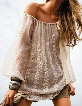 Flowy, boho chic top...