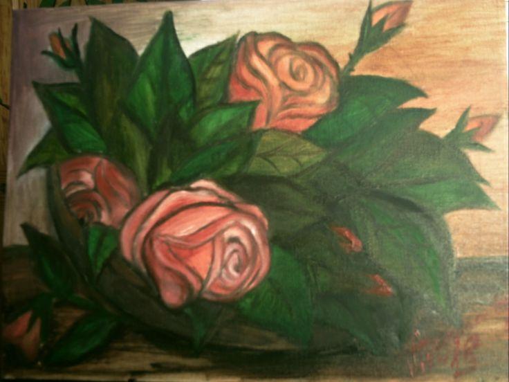 Pictura Cos cu trandafiri