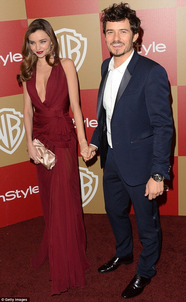 Obsessed with this couple! Miranda Kerr and Orlando Bloom at 2013 Golden Globes