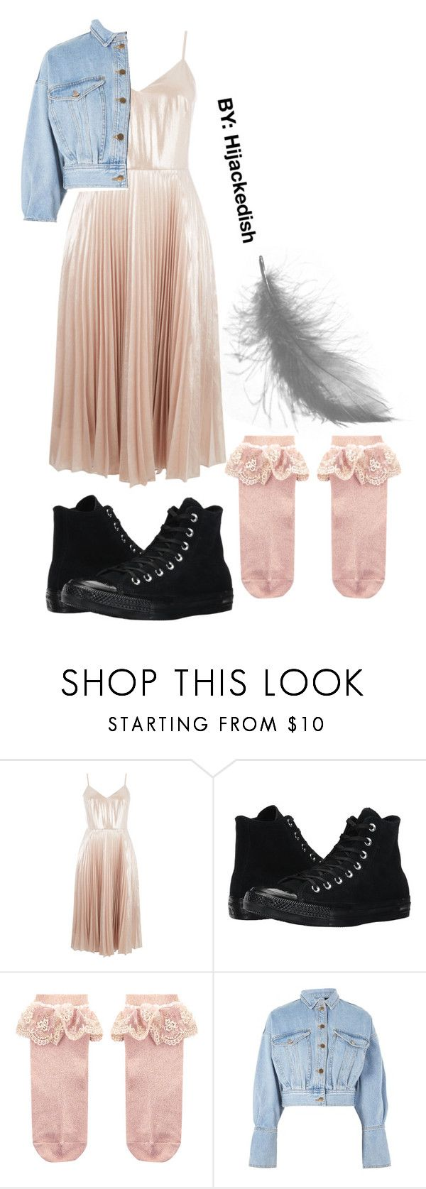 """""""Pink panther"""" by hijackedish on Polyvore featuring Warehouse, Converse, Monsoon and Topshop"""
