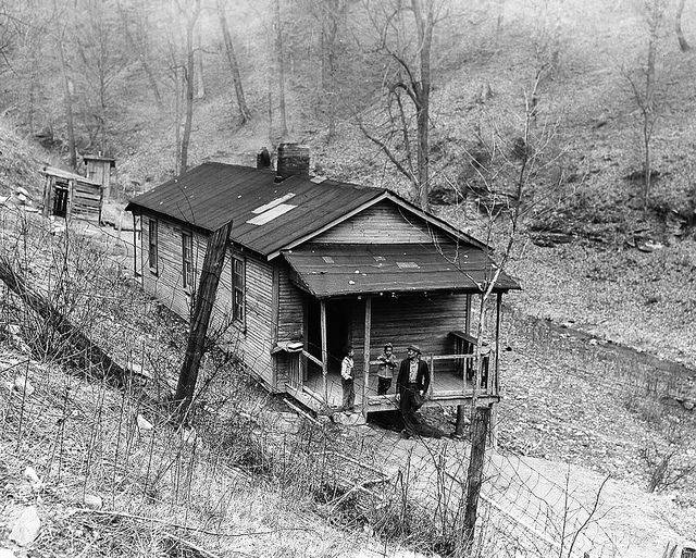 Coal miner, John Tom Blanton's residence, exterior (Tribbey, Kentucky) (1944). United Mine Workers of America, Historical Collections and Labor Archives, Special Collections Library, University Libraries, Pennsylvania State University via Flickr.
