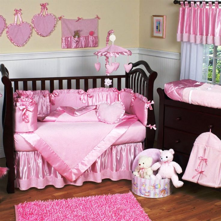 43 best images about nursery girl on PinterestBaby crib bedding