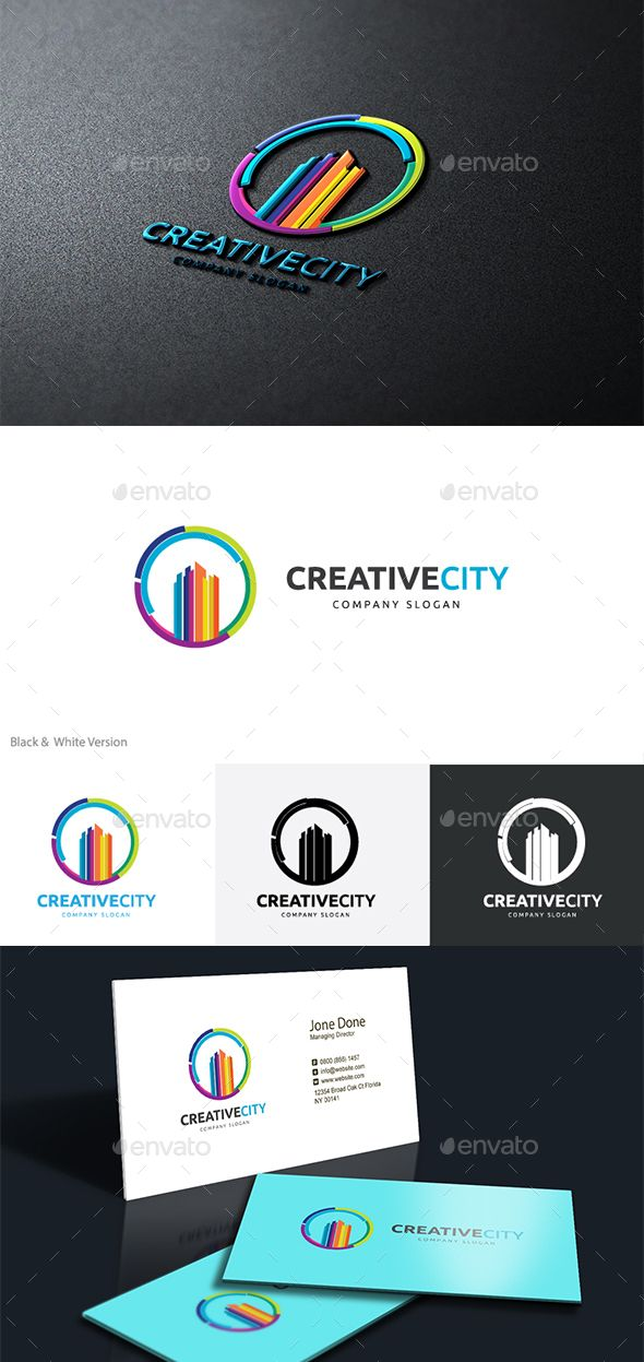 Creative City Logo Design Template Vector #logotype Download it here: http://graphicriver.net/item/creative-city-/14630265?s_rank=456?ref=nexion