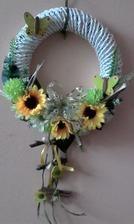 pletený veniec slnečnica