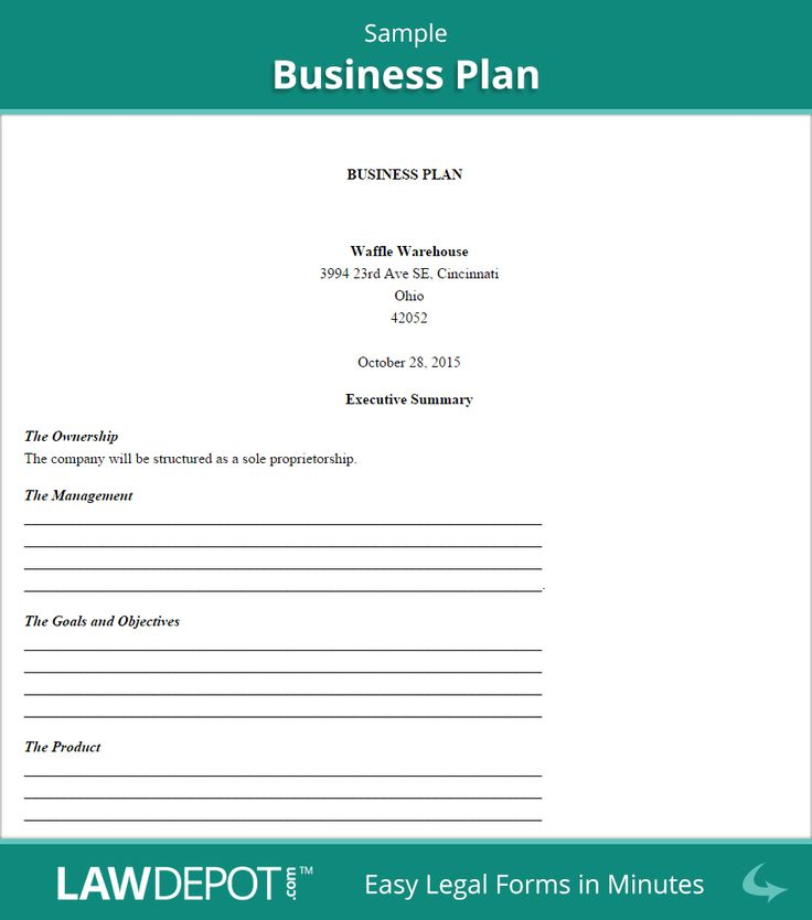 Sba Business Plan Template Format For Business Planpdf