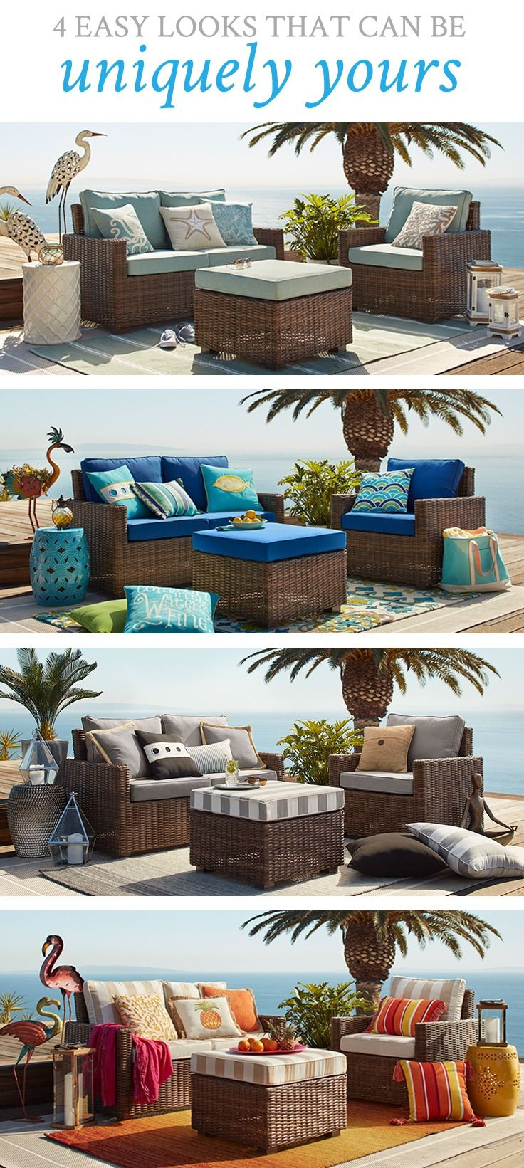 Echo Beach Latte 3 Piece Patio Set