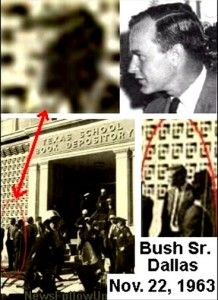 Did George H.W. Bush witness JFK assassination? (read the article for your own conclusion, looking at timeline, Kennedy shot at 1pm (per video).)