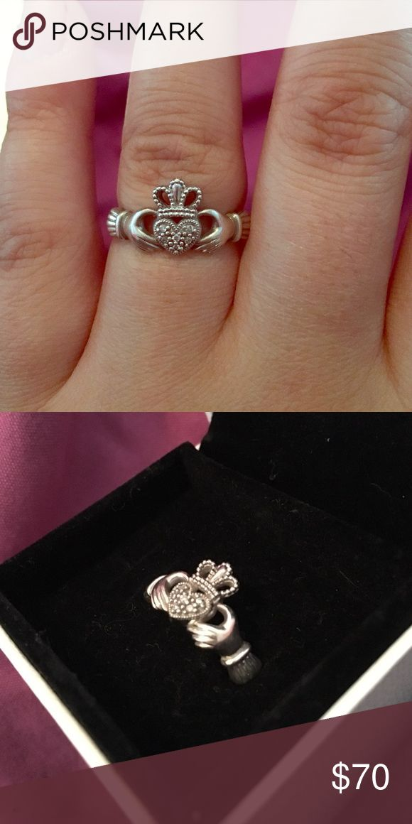 Claddagh ring Sterling silver and diamond claddagh ring Reed's Jewelers Jewelry Rings