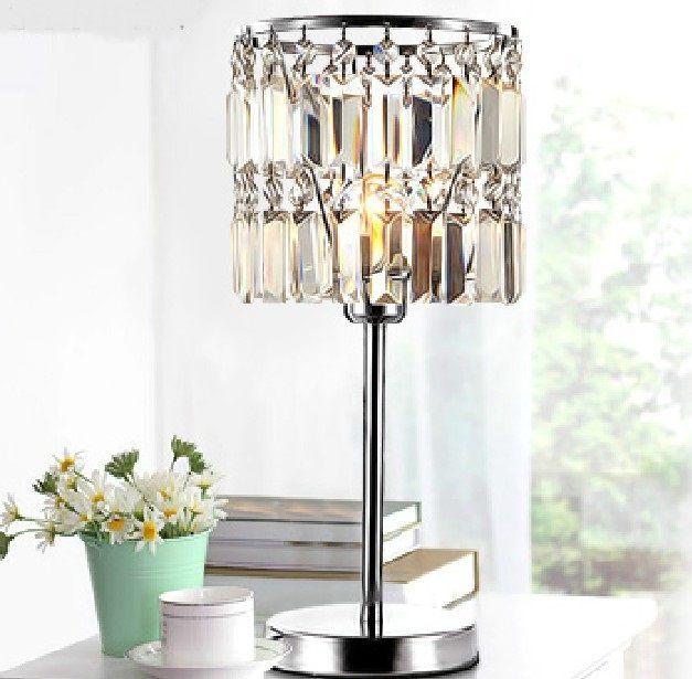 New Modern Fashion Crystal Table Lamp Desk Decorate Light For Study Dinning Room Lightin Elegant Table Lamp Crystal Table Lamps Bedside Lamps Crystal