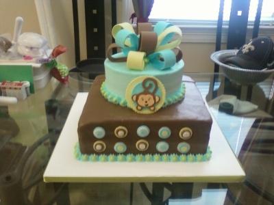 Little monkey boy cake monkey boy baby shower birthday party ideas pinterest boy baby - Monkey baby shower cakes for boys ...