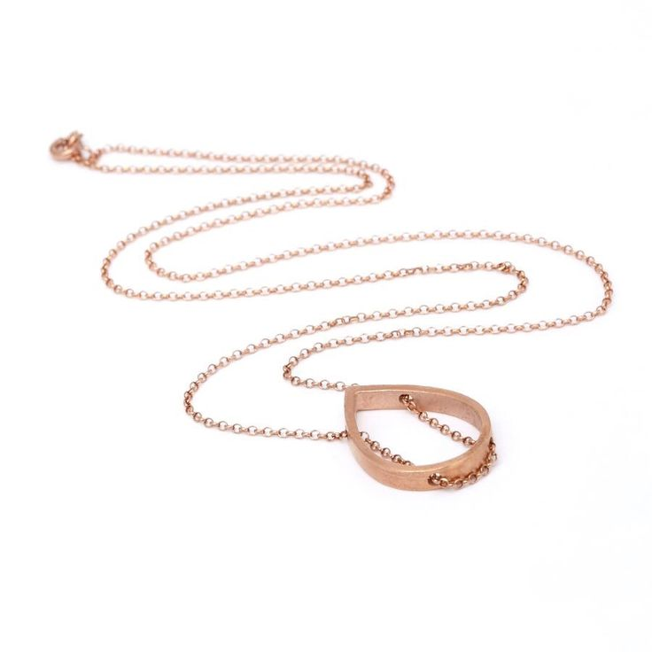 Rose Gold Plated Tear/Rose Gold Plated Chain