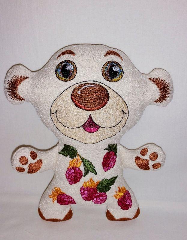 Медведь.Текстиль и вышивка Елена Богданова