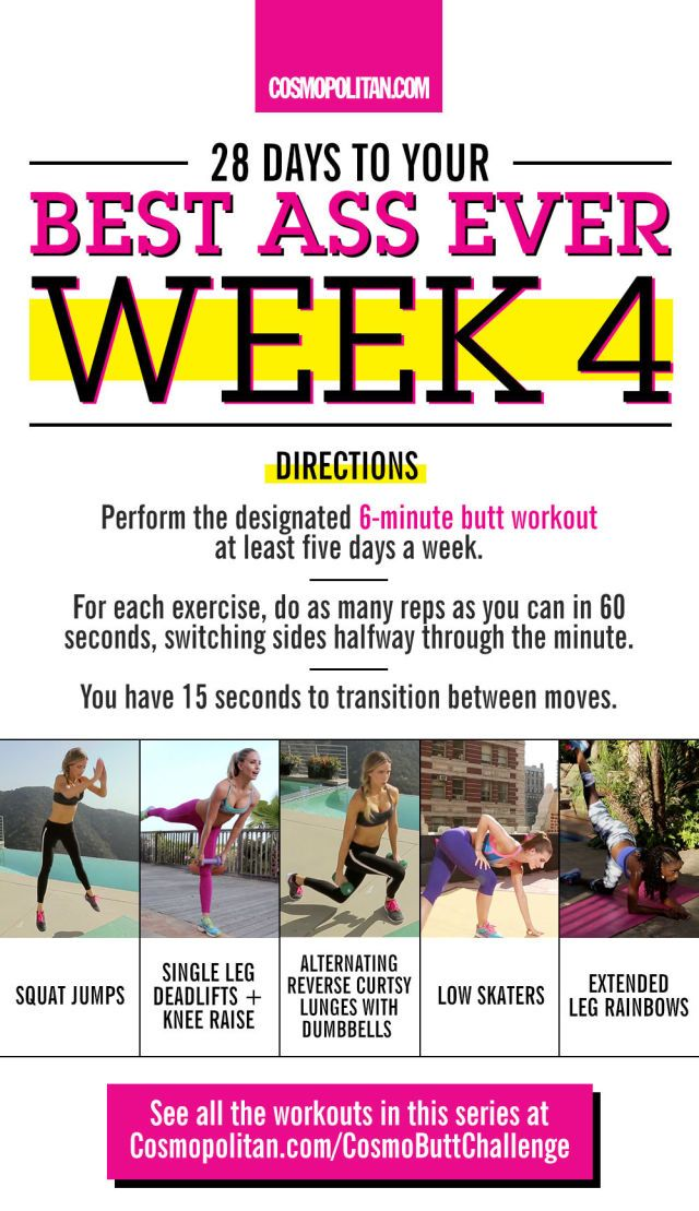 Here's How to Get Your Best Butt Ever in 28 Days