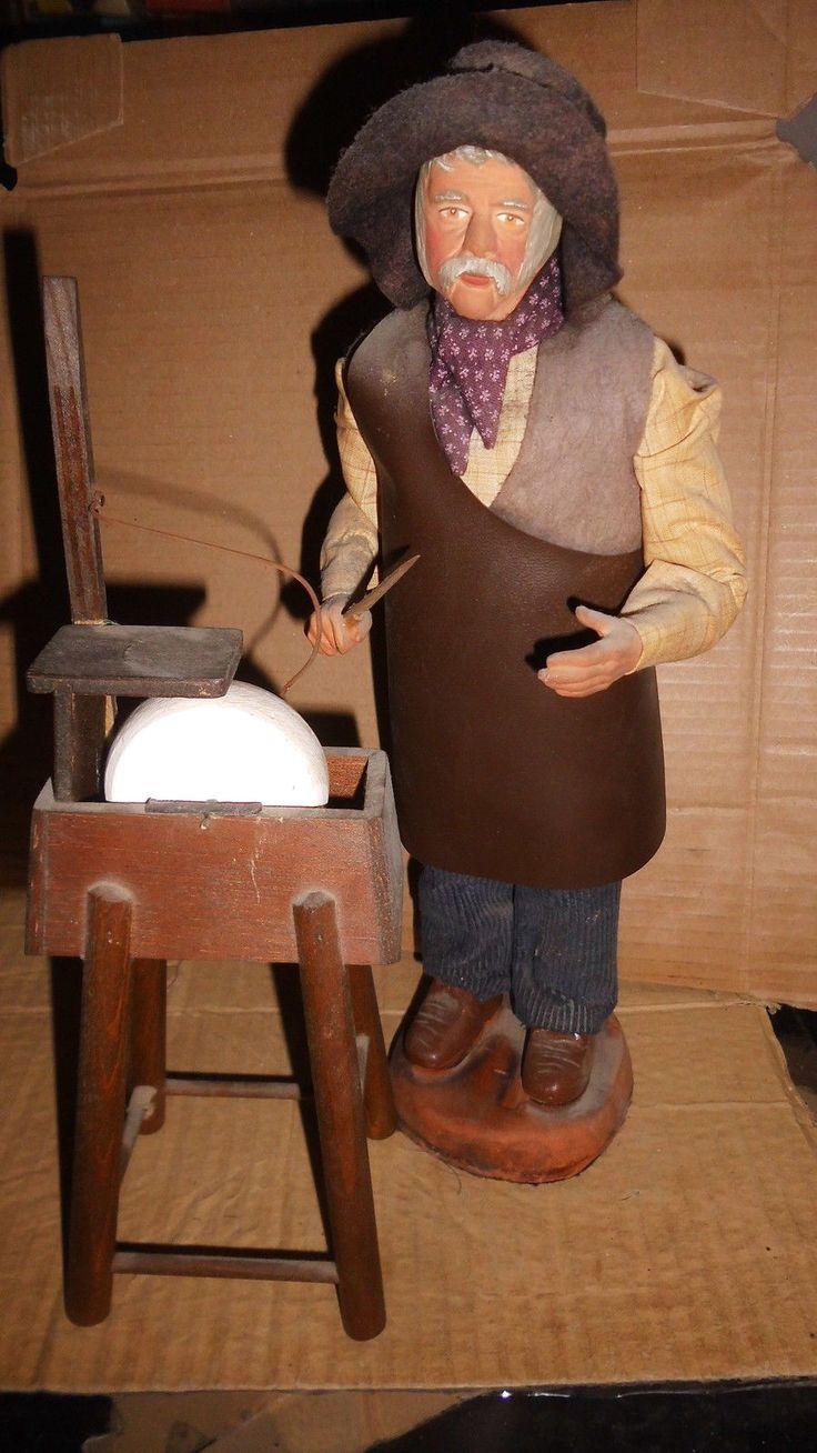 Ancien santon de Provence -Remouleur - H 32 cm env  | Collections, Fèves, Santons, crèches | eBay!