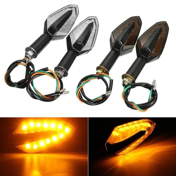 12V 13 LED Motorcycle Turn Signal Indicator Light Amber Universal Smoke Clear Lens