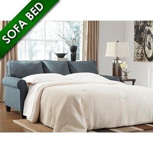 Zeth Queen Sofa Sleeper in Denim | Nebraska Furniture Mart