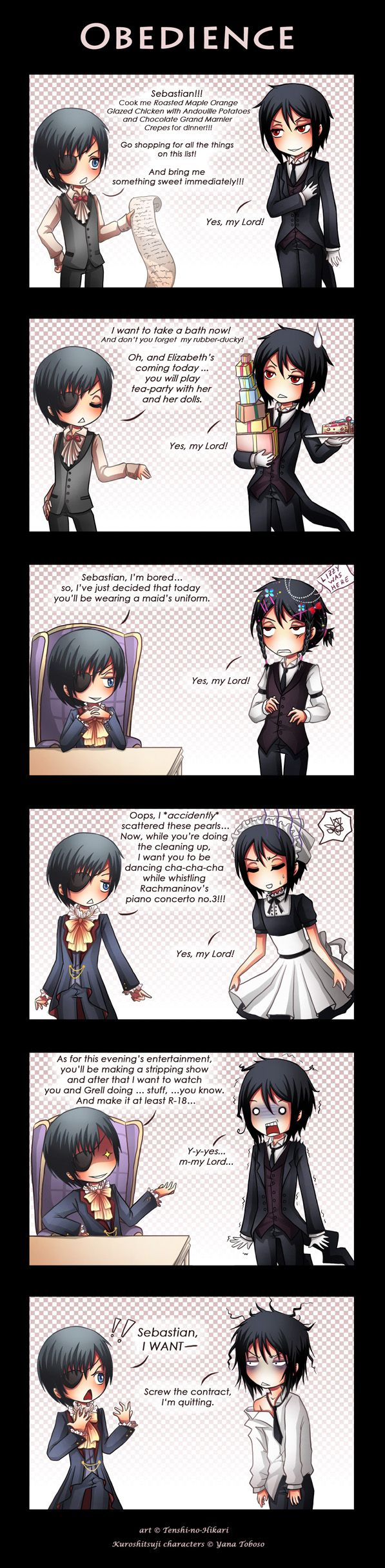 Sebastian does too much for Ciel... ^_^