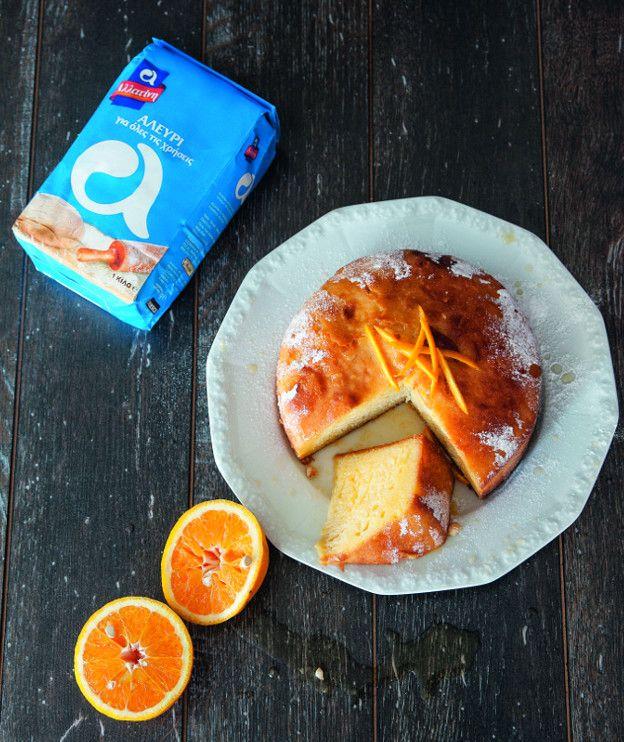 Σιροπιαστό κέικ πορτοκάλι