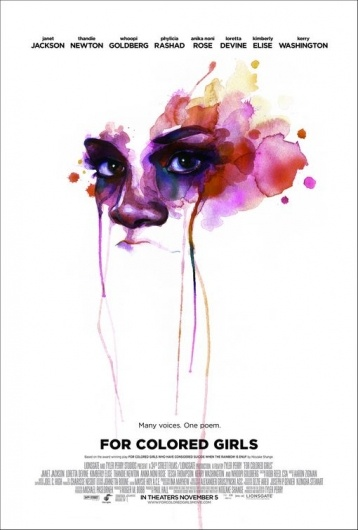 Designspiration — For Colored Girls Poster - Internet Movie Poster Awards Gallery