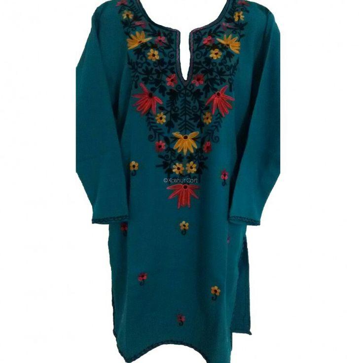 Wollen kurti wd kashmiri embroidery work