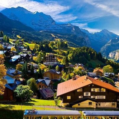 Wengen, Swiss Alps, Canton Bern, Switzerland.