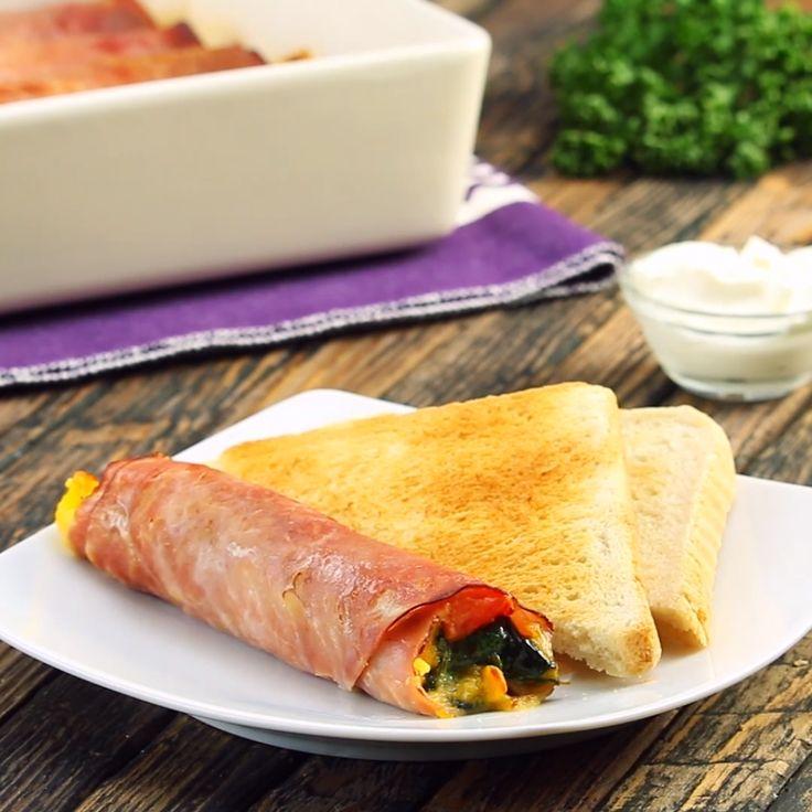 Köstliche Frühstücks-Rouladen