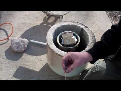 Video instructions for making your own kiln. This particular one can get hot enough to melt glass!