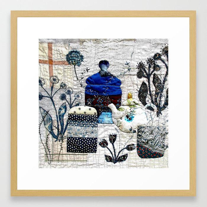 Botanical kitchen Framed Art Print