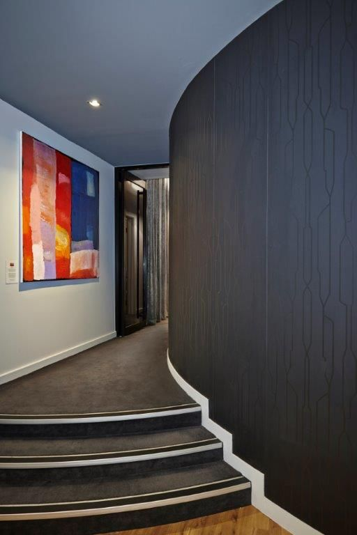 A Touch of Beauty salon walkthrough to treatment rooms. Interior design by Enoki