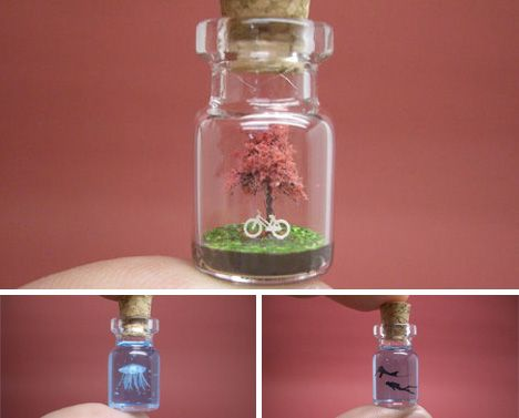 Lilliputian Landscapes: Paper Sculptures in Mini Bottles | WebEcoist. These are so cool, I have to try this.