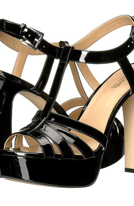 MICHAEL Michael Kors Catalina Sandal (Black Patent) Women's Sandals - MICHAEL Michael Kors, Catalina Sandal, 40S7CAHA3A-001, Footwear Open Casual Sandal, Casual Sandal, Open Footwear, Footwear, Shoes, Gift - Outfit Ideas And Street Style 2017