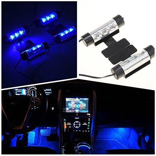 IPUIS 4 en 1 12V LED Néon Eclairage Lampe d'Ambiance Lumières Bleu Lampadaire Pour Décoration Intérieur Voiture Auto: Caractéristiques:…