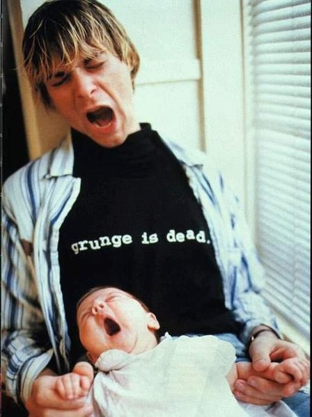 Kurt Cobain grunge is dead frances bean rock, indé, dark, gothic, darkwave, batcave, indus, metal, punk: