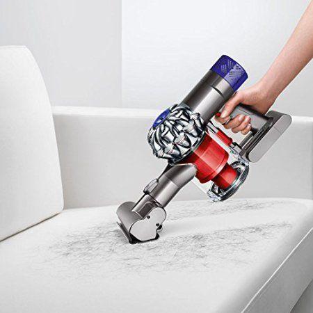 Dyson V6 Total Clean Aspirateur Balai Technologie 2 Tier Radial Garantie 2 ans Rouge/Métal   Toutes les promos du web